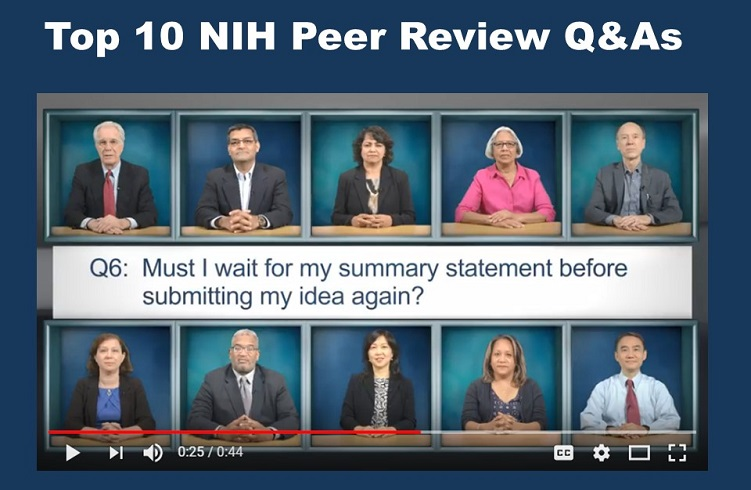 Top 10 NIH Peer Review Q&As for Applicants